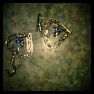 old antique ear rings real silver